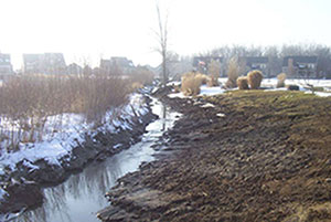 After A before-and-after look at a Twin Oaks stormwater management project.