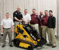 The Morbark Tree Care Products sales team. From left are Jeremy Beatty, Jason Showers, Casey Gross, Justin Longtin, Ryan Sanders, Kevin Kowallic and Kevin Edwards.