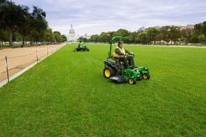 John Deere equipment was used to restore the east end of the National Mall. Photo: John Deere.
