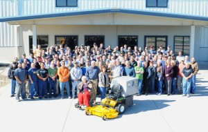 Walker Manufacturing produced mower No. 125,000 Oct. 18, 2013. Photo: Walker Manufacturing.