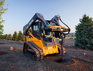 John Deere's new 323E compact track loader is added to its E-Series line. Photo: John Deere