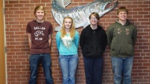 (From left to right) Student Spaceflights Experiments Program creators include Cade Lamont, Sydney Holler, Jason Liszka and Trey Saulsbery from Jamestown High School in Jamestown, Pa. Photo: LebanonTurf.