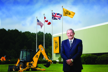 John Patterson retired from the position of chairman and CEO of JCB, North America. Photo: JCB.
