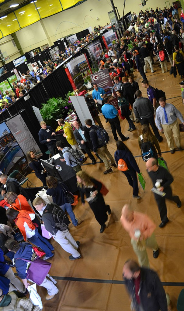 The PLANET SCD career fair was held March 21 in Colorado State University's Moby Arena.