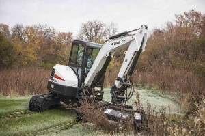 E45_with_Flail_Mower_Clearing_Brush