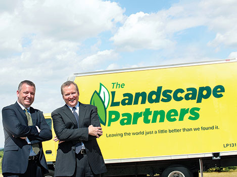 (From left) David Minor, CEO, and Rick Onstott, president, opened Fort Worth-based The Landscape Partners in 2003.