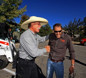 From left: Steve Klumker and Jim Duke, owner of Bobcat of Durango. Photo: Bobcat