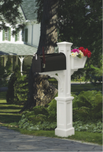 High-end vinyl posts are one type of mailbox offering. Photo: Mayne.
