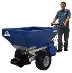 Ecolawn's ECO 150 Compost Spreader comes equipped with a Vanguard 6.5 Briggs & Stratton engine. Photo: Ecolawn