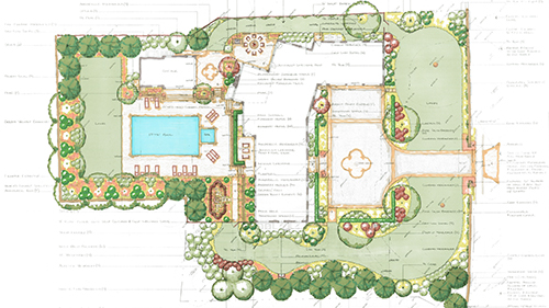 The rendered site plan.