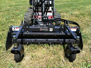 Power box rakes (pictured here) are 'the mainstay' for contractors for grading, says Stephen Kingsley of Paladin.