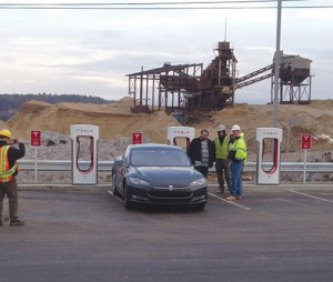 Giant Landscaping sees value in securing commercial accounts, such as with Tesla Motors. Photo: Giant Landscaping