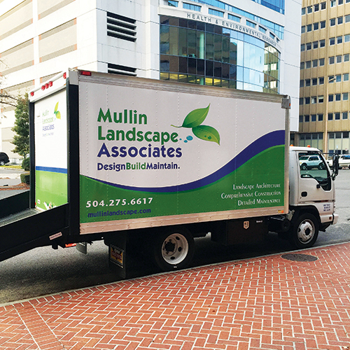 As noted on its trucks,  Mullin Landscape Associates prides itself on  taking projects from start to finish.