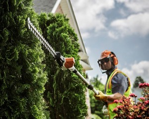 Manufacturers say lithium ion will continue to serve as a sound power source for nongas handhelds, such this Stihl HLA 85 hedge trimmer. Photo: Stihl
