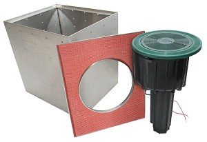 Underhill now offers seven new valve boxes for its Mirage long-throw sprinklers. Photo: Underhill