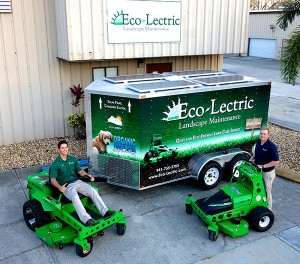 Though Eco-Lectric  Landscape Maintenance has a slew of nongas handheld product brands, it sticks with Mean Green Products' mowers. Photo: Eco-Lectric