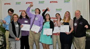 PLANET AEF scholarship recipients celebrate their awards. Photo: Philippe Nobile Photography