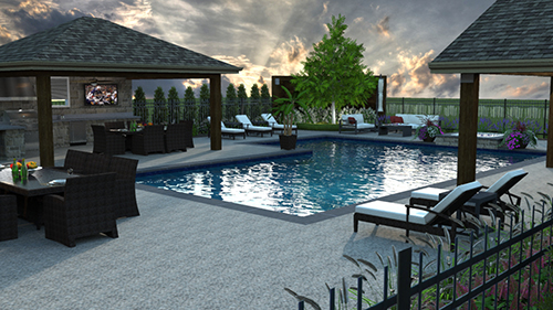 Software that creates 3-D renderings is another trend among landscape design software users.  Photo: Cedar Springs