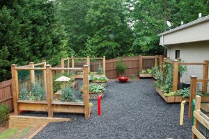 The sensory garden is designed to help preschoolers with communication disorders experience each of the five senses.