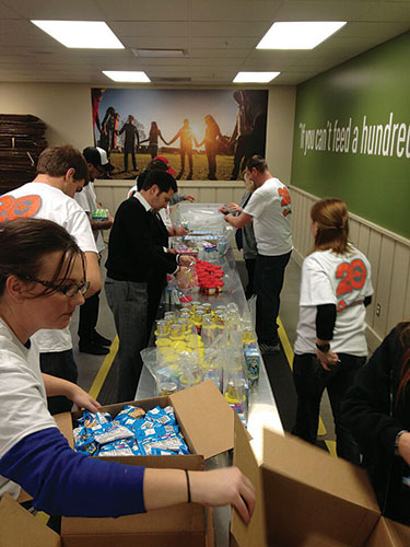 Sun Valley staff have volunteered at several projects this year. Photo: Colin Conces