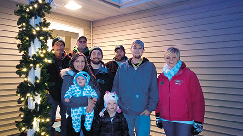 Green Oasis donated a lighting installation for a military family in Eau Claire, Wis. Photo: Green Oasis