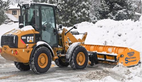 Arctic Snow Sectional Sno Pusher Landscape Management