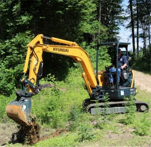 The Hyundai R35Z-9A, shown here, is one of six new Tier 4 Final-compliant models.