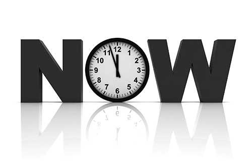 Now. Photo illustration: ©iStock.com/alexsl