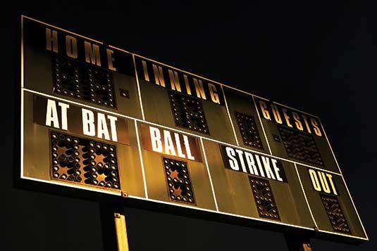 Scoreboard. Photo:©istock.com/meltonmedia