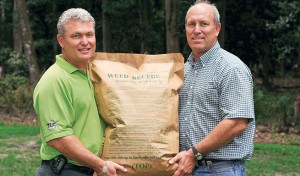 Brothers Bob (left) and Jim Hawkinson run a commercial landscape company and have invented several landscape-related consumer products.