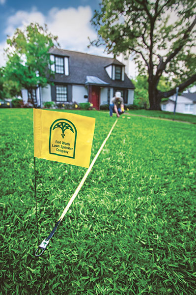 The Fort Worth Lawn Sprinkler Co. flag has been flying since 1975.