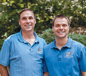 Rich Cording Sr. (left) and Rich Cording Jr. run CLC Landscape Design in Ringwood, N.J.