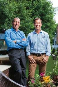 Eric Remeis (right), president of Yard Solutions near Columbus, Ohio, and one of his mentors, Elliott Tobias.