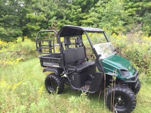 American Landmaster UTVs, like the LS550, shown here, are built in a factory in Roseland, La.