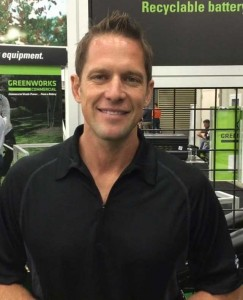 Chris Lambton, host of Yard Crashers on DIY Network, owner of E. Lambton Landscaping and spokesperson for Greenworks Commercial.