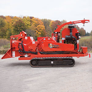 Beever M18R Track Tree and Brush Chipper.