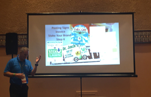 "Dave Boulter, vice president of Real Green's Forms division, shared his expertise in printing with tips on maximizing your print, direct mail and digital marketing budgets. ""It starts with data,"" he told attendees. ""Build it, and they WILL come."""