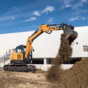CX60C mini excavator.