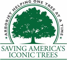 Arborjet Helping One Tree at a Time - Saving America's Iconic Trees logo