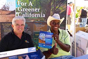 Edward L. Wallace and Richard Cohenat the CLCA booth at an event in Irvine, Calif. Photo: Edward L. Wallace