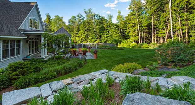 Backyard active and passive recreation at a Pellettieri Associates project in Amherst, N.H. Photo: Jeff Dachowski, Dachowski Photography
