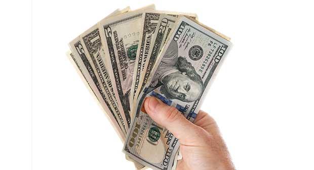 hand holding cash. Image: iStock.com/Fotonen
