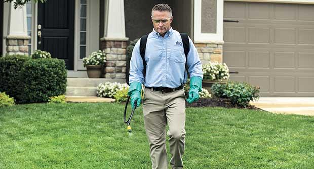 Man spraying herbicide. Photo: PBI-Gordon Corp.