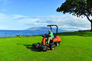 SGS Hawaii crew member mowing