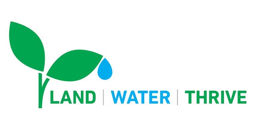Land. Water. Thrive. logo