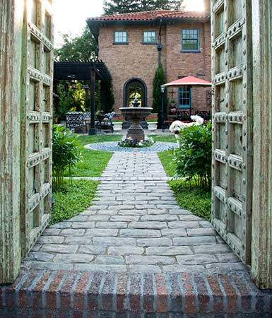 Backyard entrance