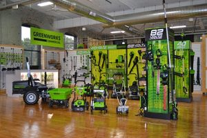 Greenworks lineup of lithium ion equipment | Photo by LM Staff.