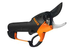 Electric secateurs; Photo: Bahco