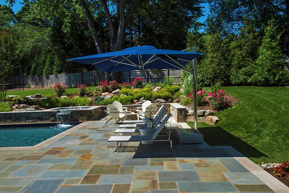 Flagstone pool decking (Photo: Hilary Schwab)