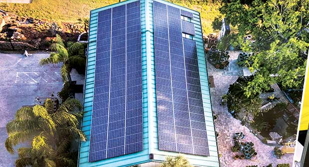 Solar panels; Photo: Earth Works